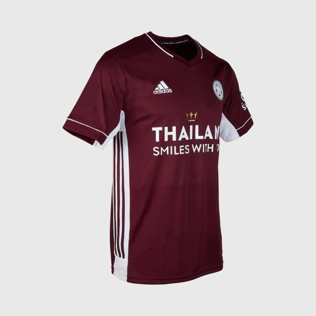 Leicester City Football Club Replica Maroon Away Shirt 2020 2021